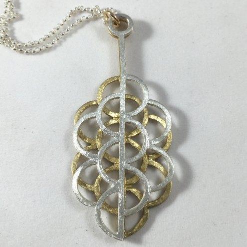 Sacred geometry sk rhoades mixed metal sacred geometry pendant aloadofball Gallery